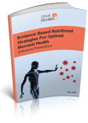 Evidence based nutritional strategies for optimal mucosal health - cover